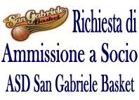 Richiesta dio Ammissione Socio - ASD San Gabriele