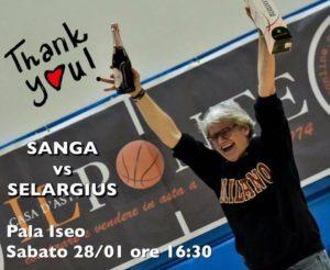 Sanga Pinotti festeggia