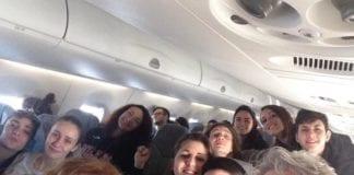 In volo verso Roma ️️️!! #SangaBabyGang