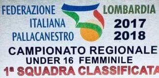 U16 Sanga Milano Campionesse Gold Regione Lombardia. Super