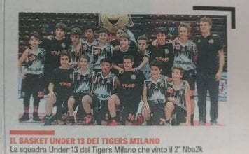 SANGA Milano shared ASD Tigers Basket Milano's post