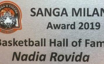 Sabato 16 marzo Nadia Rovida entra nella Sanga Hall of Fame insieme a Susanna…